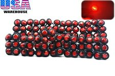 "100x 3/4"" Marker Lights Triple Diode LED Truck Trailer Clearance Indicator Red"