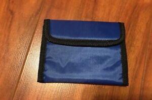 Nylon Wallet Clear ID Window Vel Closure Pick Yellow, Blue, or Orange NEW