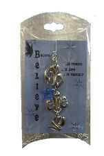 "Fairy Believe Necklace Charms Blue Star 24"" Chain NEW"