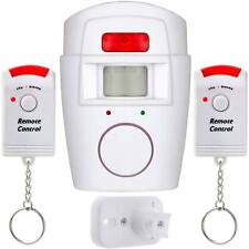 Sensor Motion PIR Wireless Alarm With 2 Remote Controls home Shed Garage Caravan