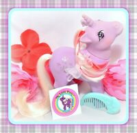 ❤️My Little Pony MLP G1 Vtg 1984 Unicorn POWDER Snowflake Original Moon COMB❤️