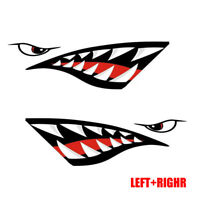 Funny Shark Teeth Mouth Sticker Boat Truck Car Accessories Decal Decor Car Parts