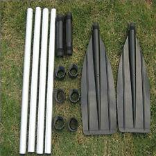 Pop  one pair MARINE ALUMINUM OAR PADDLE WITH HOOK FOR BOAT/KAYAK/RAFT MDAU