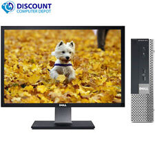 "Dell 790 USFF Desktop Computer PC Intel i5 4GB 320GB Windows 10 Home 17"" LCD"