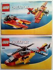 Lego Creator 5866 3in1 Rettungshubschrauber,nur2 Bauanleitungen,keine Steine