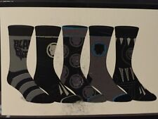 BLACK PANTHER Avengers MARVEL movie NEW Men's 5 Pairs CREW SOCKS shoe SIZE 10-13