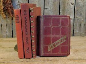 4 Antique Handwritten Diary Journal Lot 1937 - 1970 Blanche Leister PA