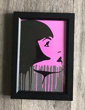 Framed Modern Pop Art Fashion Graffiti Style Print Black Frame