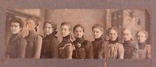 .1800s PRESBYTERIAN CHURCH SUNDAY SCHOOL CLASS, OHIO USA PHOTO + NAMES.