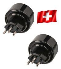 2 x Reisestecker CH Schweiz EU Travel Reise Adapter Plug Stecker brennenstuhl
