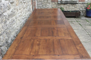 Outstanding 8.5ft / 260cm Plank Top Solid Oak French Farmhouse Refectory Table
