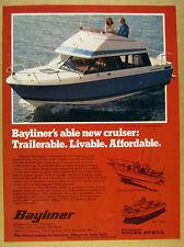 1978 Bayliner Saratoga Command Bridge 25 ft yacht boat photo vintage print Ad
