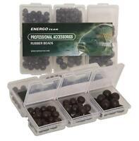 Energo Team Rubber Beads Black ca. 230 Stück/Packung Gummiperlen Gummistopper