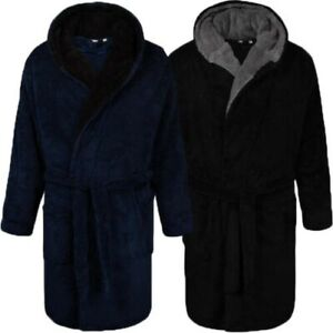 Mens Dressing Gown By D555 NEWQUAY Shawl Fleece Soft Nightwear Belted King Size
