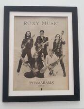 ROXY MUSIC Pyjamarama Single *ORIGINAL *POSTER *AD *FRAMED* Advert