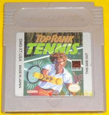 TOP RANK TENNIS Game Boy Gameboy Gb Versione Americana »»»»» SOLO CARTUCCIA