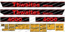 Thwaites Alldrive 4000 2 Tonne Dumper Zeichen Aufkleber Set