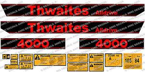 THWAITES ALLDRIVE 4000 2 TONNE DUMPER DECALS STICKER SET