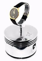 Continental Airplane Engine Polished Chrome Piston Pilots Watch Display Stand