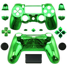 Chrome Green Full Custom Replacement PS4 Wireless Controller Shell Case Mod Kit