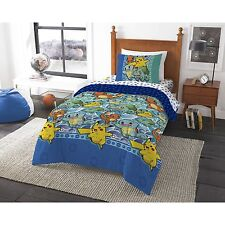 BRAND NEW! POKEMON 'First Starters' TWIN SIZE Bed In A Bag Bedding SET BOYS KIDS