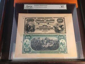 1864 Charter # 1 Philadelphia $10 Original National Face and Back