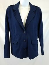 Territory Ahead Womens Jacket Sz Medium Blue Button Front Cotton Blend
