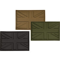 Rubber PVC Union Jack Patch British Army Military Badge UK Flag Subdued