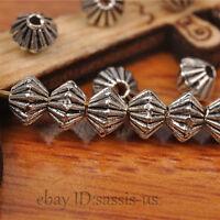 200pcs 5mm Bicone Tibetan silver Bead Spacer DIY Jewery Making Bracelet A7264