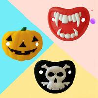 Infant Pacifier Skull Pumpkin Halloween Silicone Nipple Baby Feeding Pacifiers r