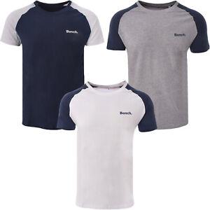 Bench Mens Jimmy Short Sleeve Crew Neck Cotton T-Shirt Tee Top