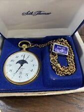 Quartz With Moon Phase Vintage Seth Thomas Pocket Watch
