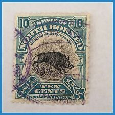 Used Postage North Bornean Stamps