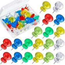 50 Pieces Jumbo Push Pins Giant Pushpins 1 Inch Map Thumb Tacks Plastic Head