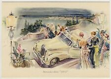 """MERCEDES-BENZ """"300 S"""" Cabriolet * Künstler-AK 1955 PC Artist Signed LISKA"""