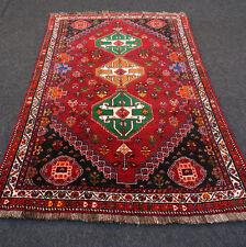 Orient Teppich Rot 168 x 113 cm Grün Perserteppich Handgeknüpft Red Green Carpet
