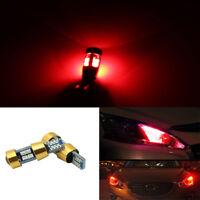 2x Red T10 3030 19SMD Canbus Error Free LED Side Marker Light Bulbs Lamp 6000K