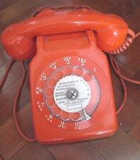VINTAGE FRENCH 60s 70s ORANGE HOME PHONE