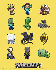 Minecraft Characters Gaming Mini Poster Print 40x50cm | 16x20 inches