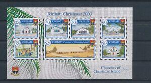 LO15277 Kiribati 2003 churches christmas holidays good sheet MNH