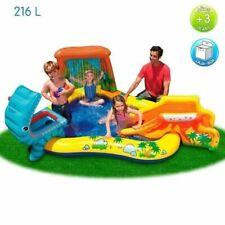 INTEX Piscine gonflable Enfant / Aire De Jeux aquatique Dinosaure 249 x 191 x 10