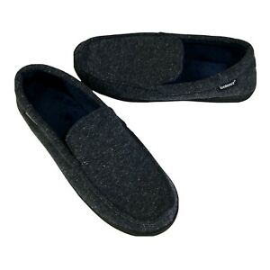 Isotoner Slippers Size L 11-12 Mens Blue Slip On Memory Foam Indoor Outdoor New