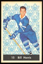 1961 62 PARKHURST HOCKEY #15 BILL HARRIS EX-NM TORONTO MAPLE LEAFS CARD