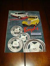 1990 BOYD CODDINGTON CRAGAR MAG WHEELS BOYDS  ***ORIGINAL AD***