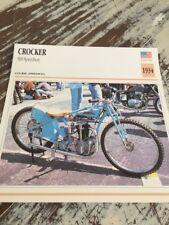Crocker 500 speedway 1934 Carte moto Collection Atlas USA