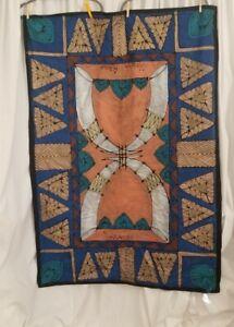 African Style Tapestry 60×40 Handpainted, 'Molweni Afrika',' Nomfundiso'