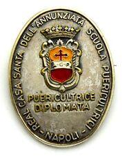 Spilla Real Casa Santa Dell'Annunziata Scuola Puericultrici Napoli Diplomata1975