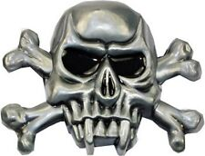 Unique Crossbones and Skull Head Removable Metal Belt Buckle Gift NEW