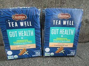 Celestial Seasonings TEA WELL GUT HEALTH Organic Cinnamon Oat 24Ct. BBD:6/22