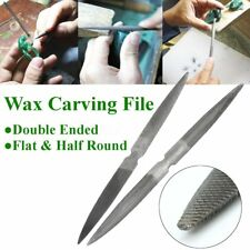 """20cm 8"""" Double Ended Flat & Half Round Wax Carving File Jewellers Making Tool"""